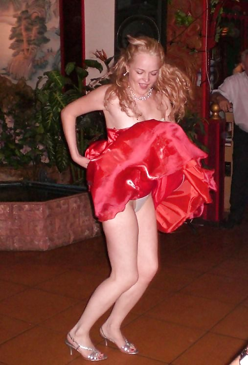 Ass. up skirts nude red drees